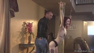 Convenient Spinner Wife Anal in Bondage