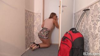 Best of Blowjobs Featuring Busty Teen V. Sucking Cock Through Glory Hole