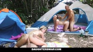 Daughterswap- Horny Daughters Fuck Step Dads at Camping Trip